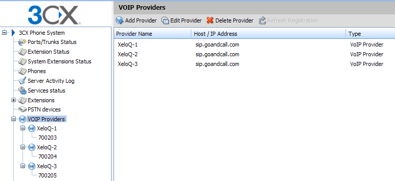 VoIP Providers: Trunk 1