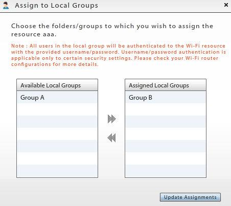 Assigning Resources to Local Groups Several resources can be assigned to users via the local group to which they belong.