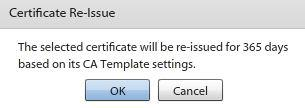 Revoke a Certificate Certificates issued from the organization s certificate server via GO!