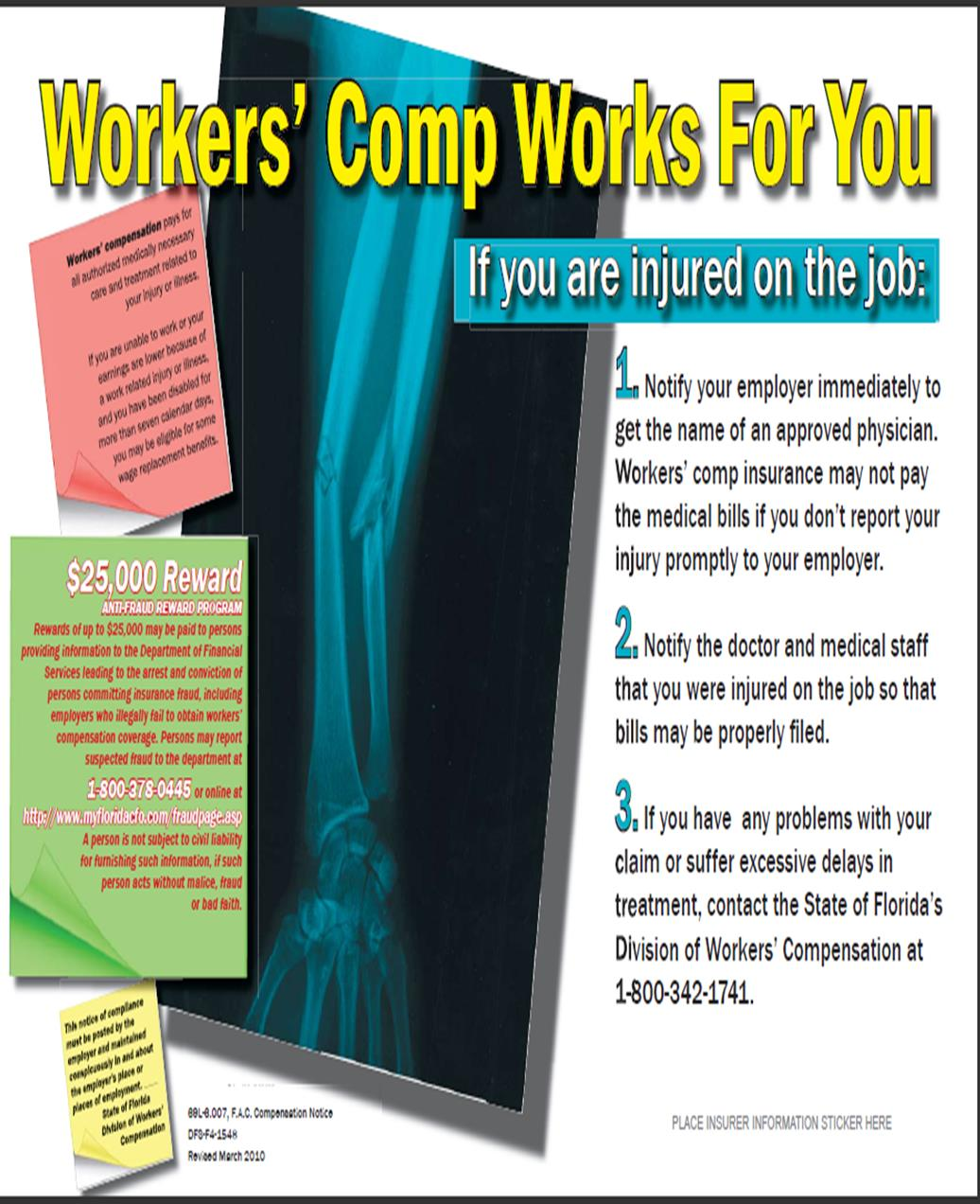 Florida Guidelines - Section A: Workers Comp Works for You (English) Section A: Compensación Por accidentes De Trabajo Labora Para Usted (Spanish) Compensación Por accidentes De