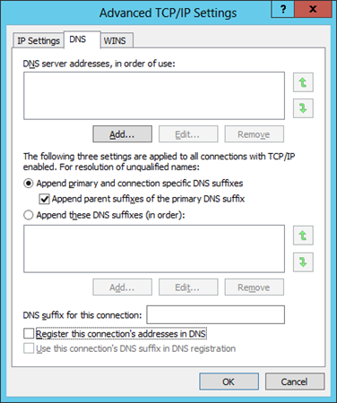 Figure 2 IP settings Figure 3 Advanced DNS settings 10 Configuring a