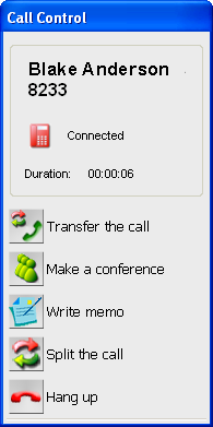 3.4 Transferring a Call 3.4 Transferring a Call Enter a phone number or double-click a contact. Put the party on consultation hold to transfer the call.