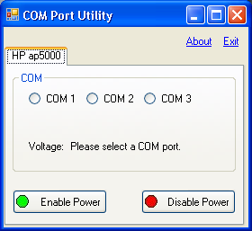 Detail Steps 1. Close any open application or document. 2. Launch the HP Com Port Utility.