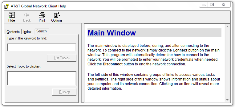 Figure 55: About Window Help for this program Click Help for this program in the Help panel of the Main