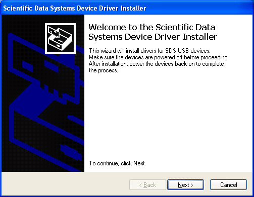 As the SDS USB Devices Drivers are installed, you will be asked to accept the license agreement. Click [Yes] to continue. FIG: 1.2.