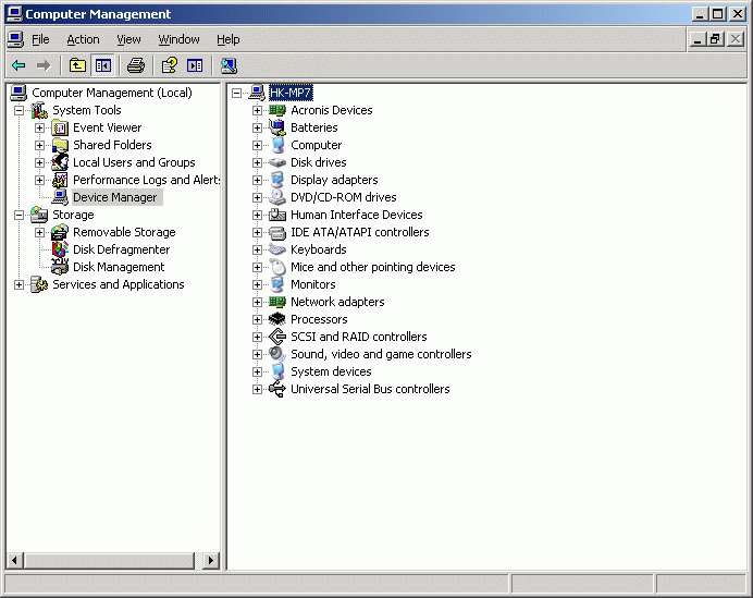 Connecting to a Remote Device using iscsi Initiator Launch Computer Management console.