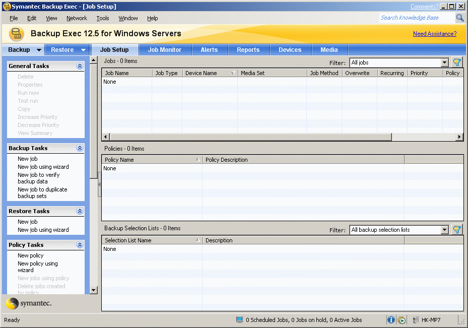 Performing backup Open the BackupExec application.