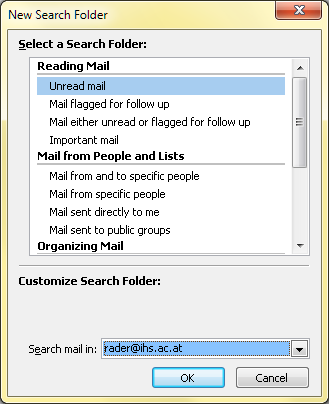 Microsoft Outlook 2010 E-Mail (30) - Organize All Unread Mail via Search Folders There is a way to view all your unread E-Mail in just one virtual folder.