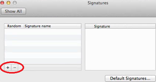 In signatures, the left column will have all the existing signatures, when you select an existing signature it will be displayed on the right as it will appear in your