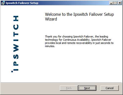 Install Ipswitch Failover Management Service 1. Having verified all of the environmental prerequisites are met, download the Ipswitch Failover Management Service.msi file to an appropriate location.