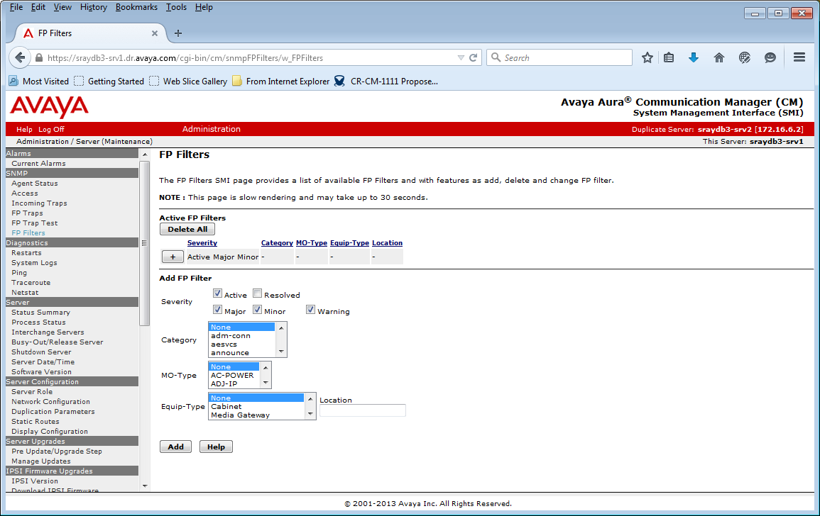 Avaya Aura Communication Manager SNMP Renewal Quick Reference Guide