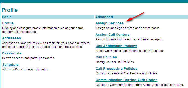 13. If using Authentication, select Utilities from the Options menu. On the Utilities page, click the Authentication link.