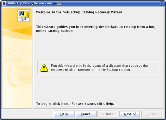 Disaster recovery About recovering the NetBackup catalog 234 On Windows: install_path\netbackup\bin\bpup 3 Start the NetBackup Administration Console.