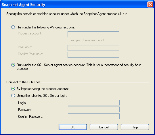 20. In the next window Agent Security specify through security settings, which account the agent will use for communication with the servers or computers. 21.