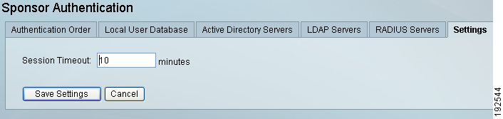 Configuring Active Directory Single Sign-On Chapter 4 Figure 4-22 Session Timeout Step 2 Enter the Session Timeout value in minutes (default is 10 minutes).