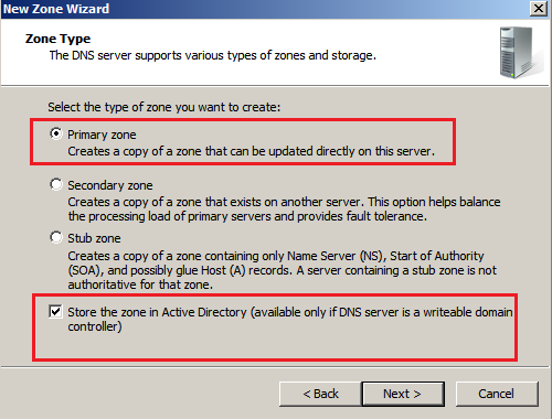 Directory Select the following option and