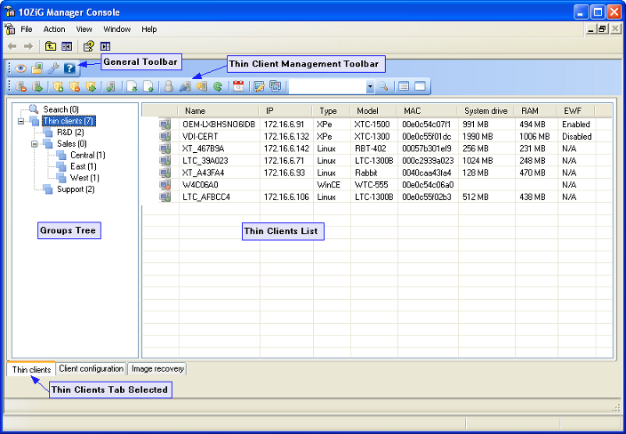 Contents  1-10ZiG Manager  2 - Thin Client Management