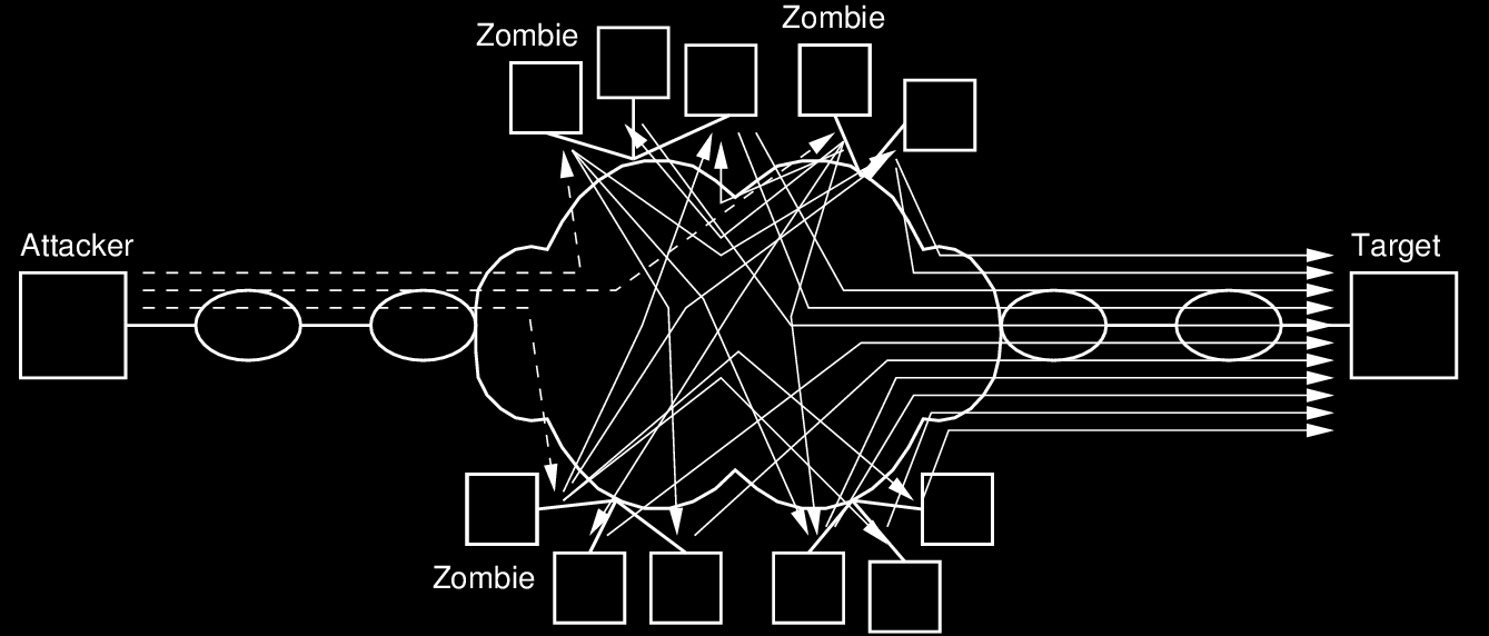 20 Using Compromised Hosts Zombies and Botnets Attacker takes control of compromised hosts zombies Attacker