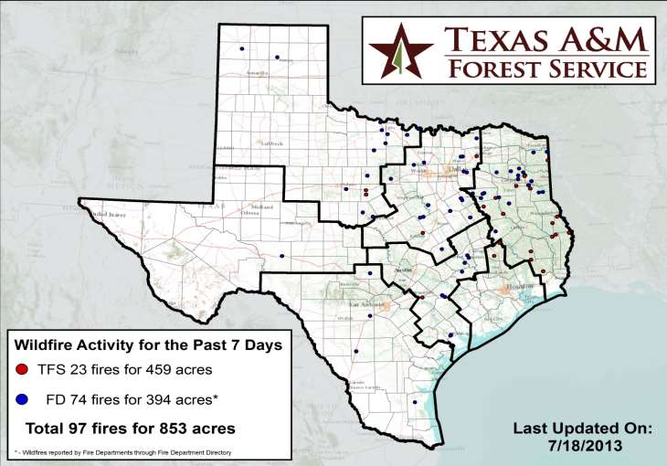 Fire Activity (Last 24 Hours) Reports 3,355 (no change) fires and 19,069 (no change) acres destroyed this year.