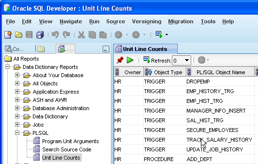 SQL Monitor and PL/SQL Reports Shipped PL/SQL Reports SQL Monitor Search Source Code
