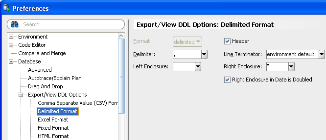 Exporting Data Export metadata and data for a schema, selected object types or selected objects Customizable user interface Configurable metadata and data format