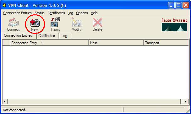 3.0 Manually Create the FAU VPN Connection Entry If the FAU Connection entry is missing, the FAU Connection entry can be