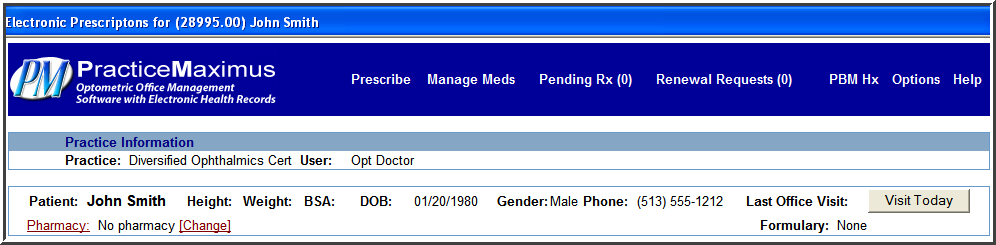 1. CPOE (Computer physician order entry) for medication orders Medication orders are placed using the E-Prescribe option within the patient s EHR record listing.