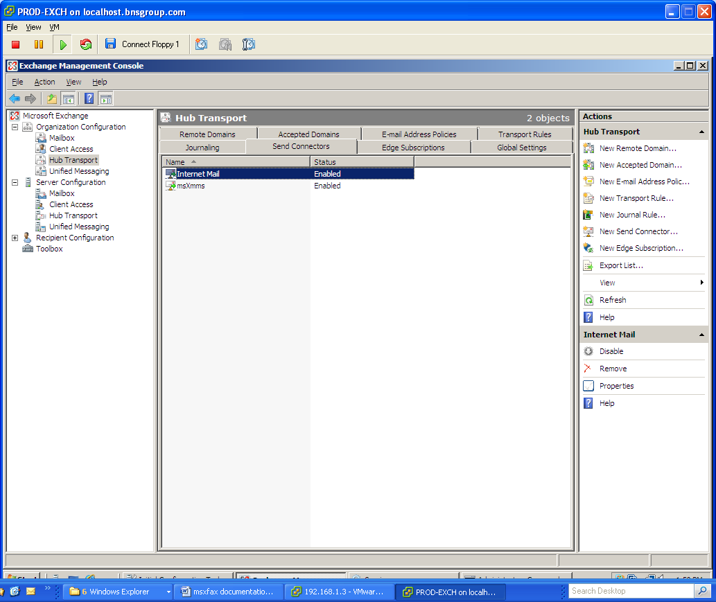 Installation Administration User Guide Software Version Msxfax 506 X 331 250 Kb Jpeg How To Wire A Gfci Circuit For Microsoft Exchange 2003 2007 2010 Server 74 45 Create Send Connector