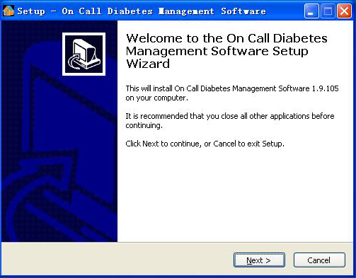 2. Installation Instructions 2.1 Installing the On Call Diabetes Management Software Note: Please be sure to install the On Call DMS under administrator s privilege.
