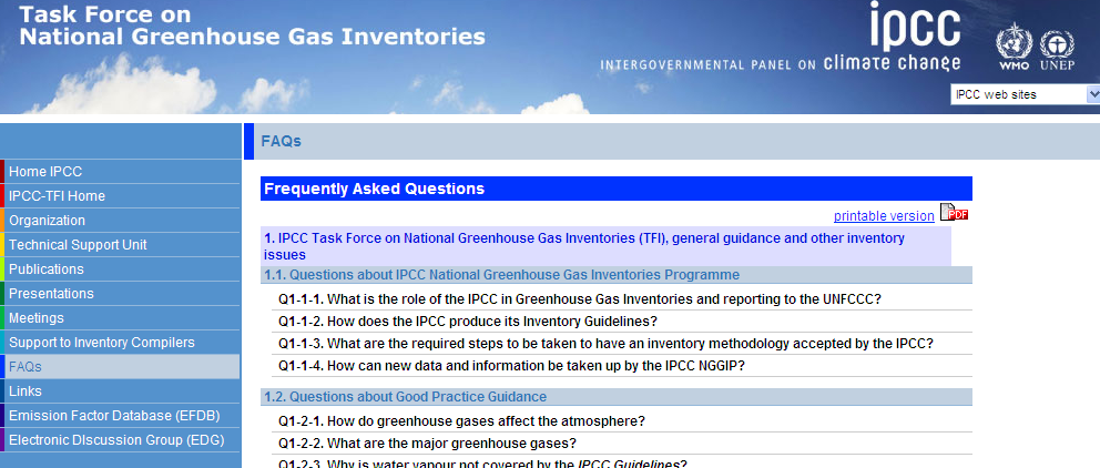 FAQs Answers to frequently asked questions (FAQs) http://www.ipcc-nggip.iges.or.jp/faq/faq.