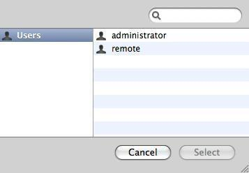 Here select the remote account and then click on the select button. 14.