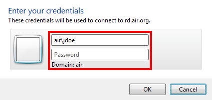 Windows Windows How do I use the full Windows Client? 1. Click the link to Download AIR RDS Profile Settings (AIR_RDS.zip) 2. Left-click and drag the AIR_RDS.RDP file to your Desktop 3.