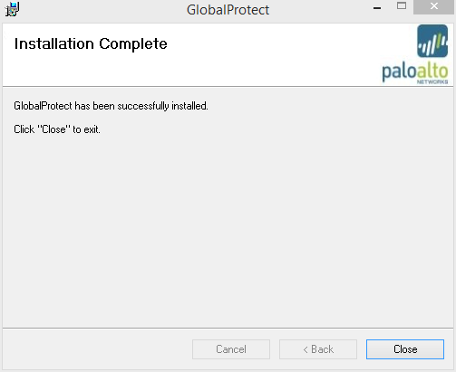 3. Install the GlobalProtect client by double clicking on the installer you downloaded. 4.