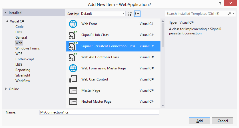 ASP NET SignalR Incredibly simple real-time features for