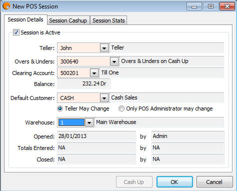 Using POS Using POS POS Sessions Before a user can start processing POS invoices, they need to have a POS Session created.