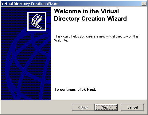 Fig. 2.1 Creating a Virtual Directory Note! You cannot create new webs in Windows XP.