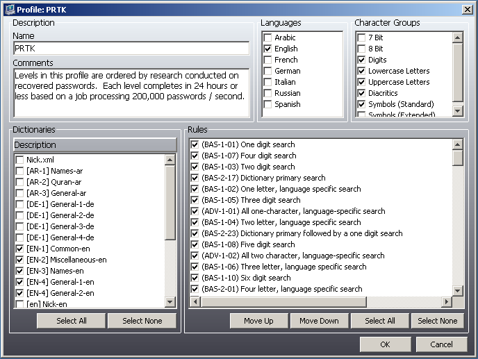 PRTK  Password Recovery ToolKit EFS (Encrypting File System