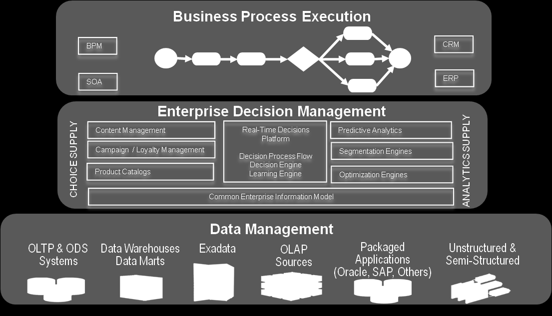 Figure 3: Decision Management Perspective Source: Oracle Learning Engine The learning engine discovers meaningful and relevant correlations in an organizations data.
