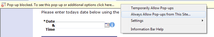 Most Web browsers have a built-in popup blocker that prevents popups appearing. This can usually be configured to allow popups for certain web-sites.