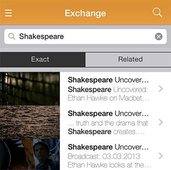 How to browse Exchange videos on the ClickView app 1) To browse videos from the ClickView Exchange, select