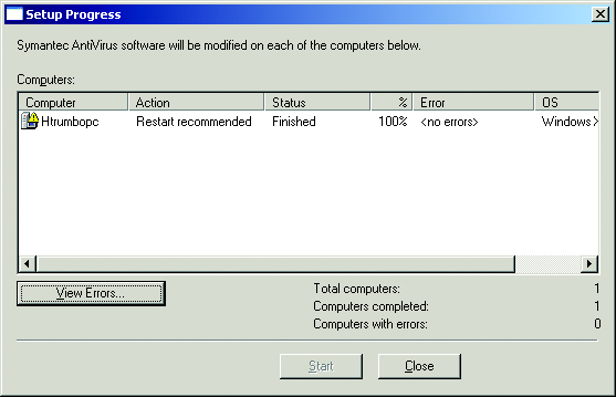 12. Verify that Automatic startup is selected, and then click Next (refer to Figure 18). The Using the Symantec System Center Program dialog box appears. Figure 19.