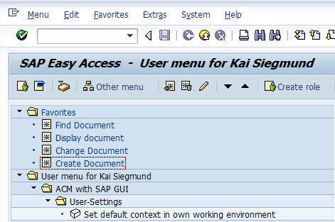 Integration CV01N, CV02N, CV03N Functionality: Set default context per user Display of context information on a dedicated customer tab in CV transactions Assign owning context Change owning
