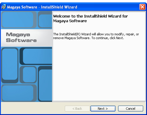INSTALL MAGAYA SOFTWARE STEPS TO INSTALL ON A SINGLE COMPUTER (OR SERVER) 2) Install the Program: Double-click on the InstMCS.exe file to run it.