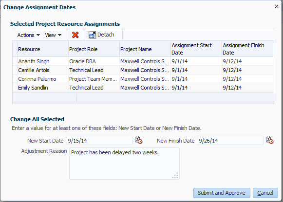 Project Resource Management Resume search Cancel or adjust dates for multiple resource assignments at once Assign