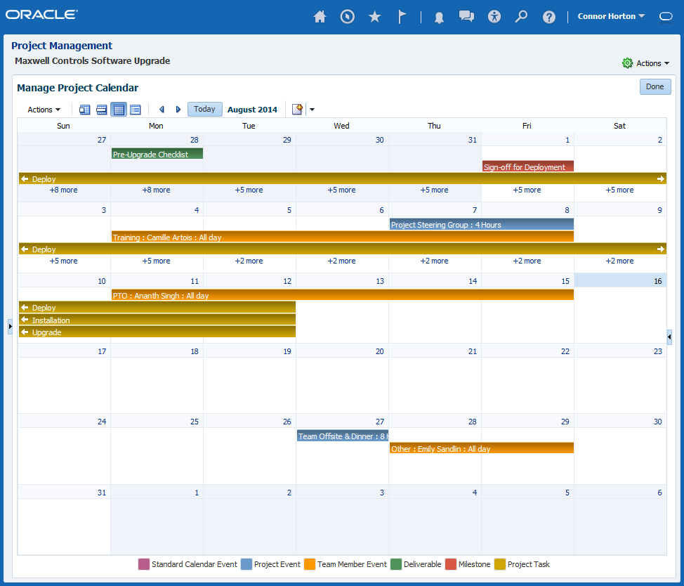 Project and Task Management Work Plan Templates Project Calendar Change Management
