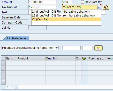 Calculate VAT Add Header Data Calculate VAT Add PO Reference Add Payment Terms Simulate and Post The selected