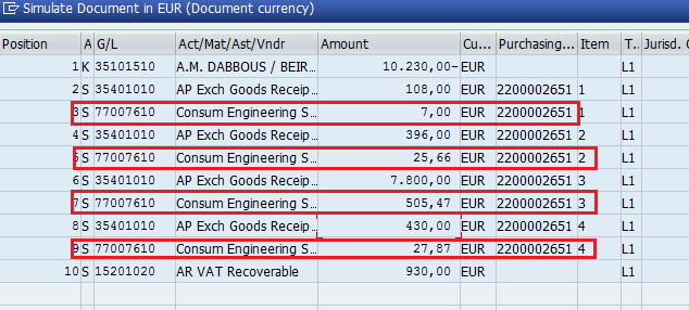 Add Unplanned Charges In Simulation, you can see that the unplanned charges are debited to