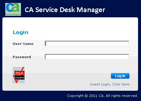 5 ACCESSING THE SYSTEM The Service Desk System Can Be Accessed From Your  Internet Browser At