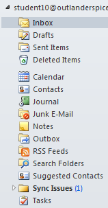 Outlook folders Outlook provides folders in which you can save and store the items you create. You can access these folders by using the default panes within the Navigation pane.