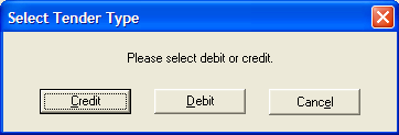 38 CHAPTER 1 2. The customer swipes their debit card through a supported PINPad. The Credit Card Payment screen appears displaying the card information and amount.